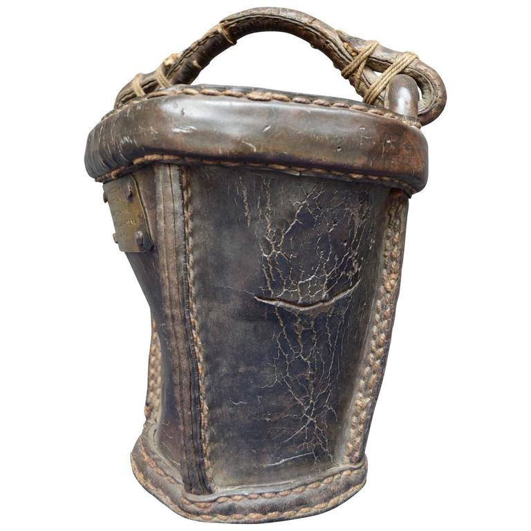German 19th Century Leather Fire Bucket