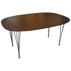 Mid-Century Modern Piet Hein Ellipse Table