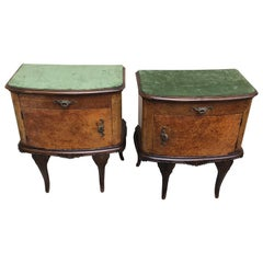 Pair of Italian Rococo Style Bed Side Tables
