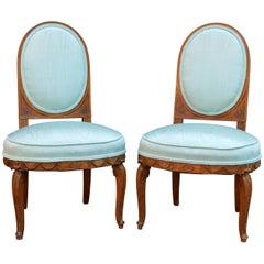 Pair of 18th Century European Louis XVI Slipper Chairs
