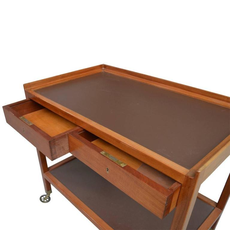 Mid-Century Modern 20th Century Serving Trolley by Frits Schlegel For Sale