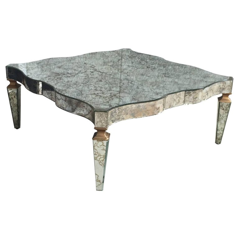 Hollywood Regency Cocktail Table by Campbell Glass