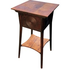 Small Square American Two-Tier Nightstand