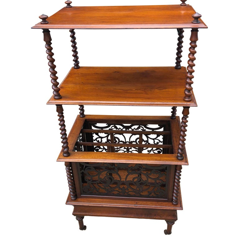 19th Century English Walnut Ètagerè and Music Stand For Sale