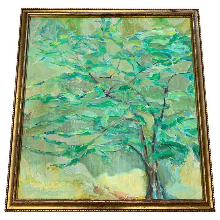 """""""Golden Wood"""", Oil on Canvas by Marilyn Ashbrook, 1977 For Sale"""