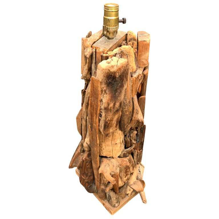 20th Century Large 1950s Driftwood Table Lamp For Sale