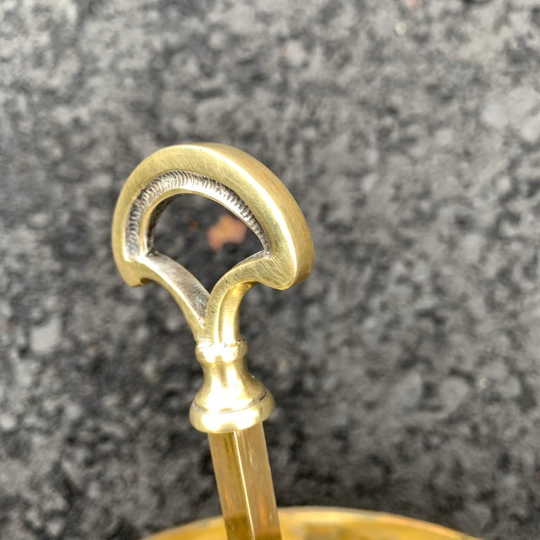 Solid Brass Bouillotte Lamp with Heart Decorated Lever For Sale 4