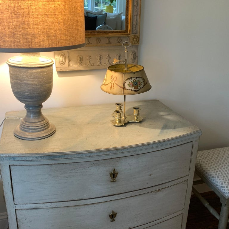 Solid Brass Bouillotte Lamp with Heart Decorated Lever For Sale 7