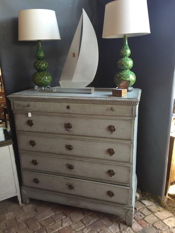 Painted Gustavian Chest of Drawers For Sale