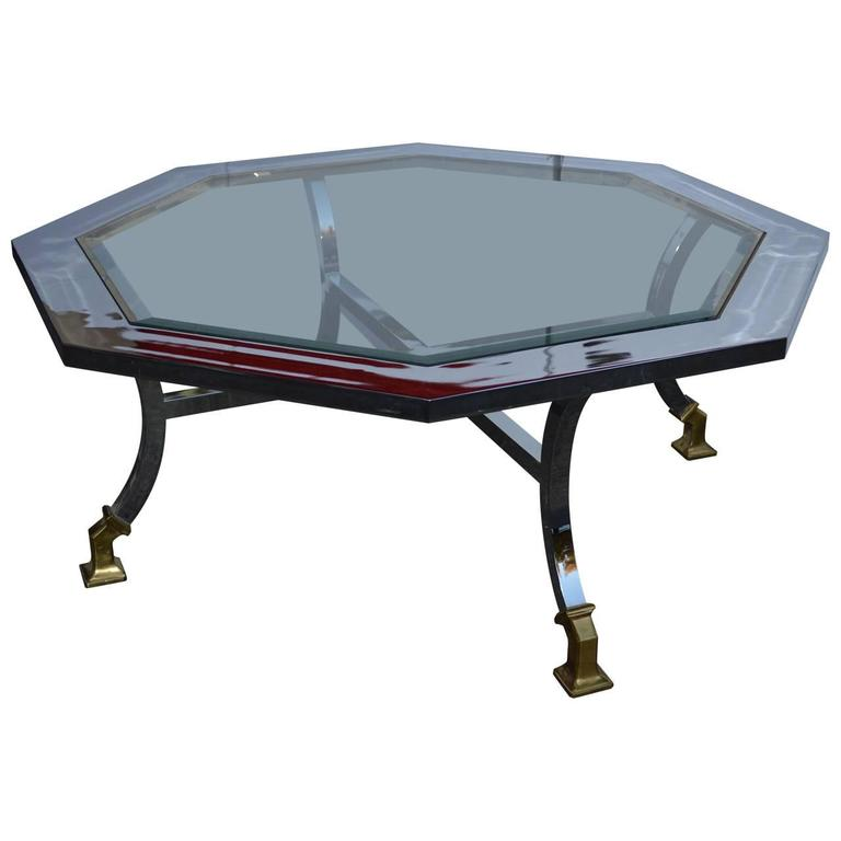 Octagon Milo Baughman Cocktail Table