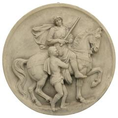 Large French Wall Plaque of St. Martin of Tours
