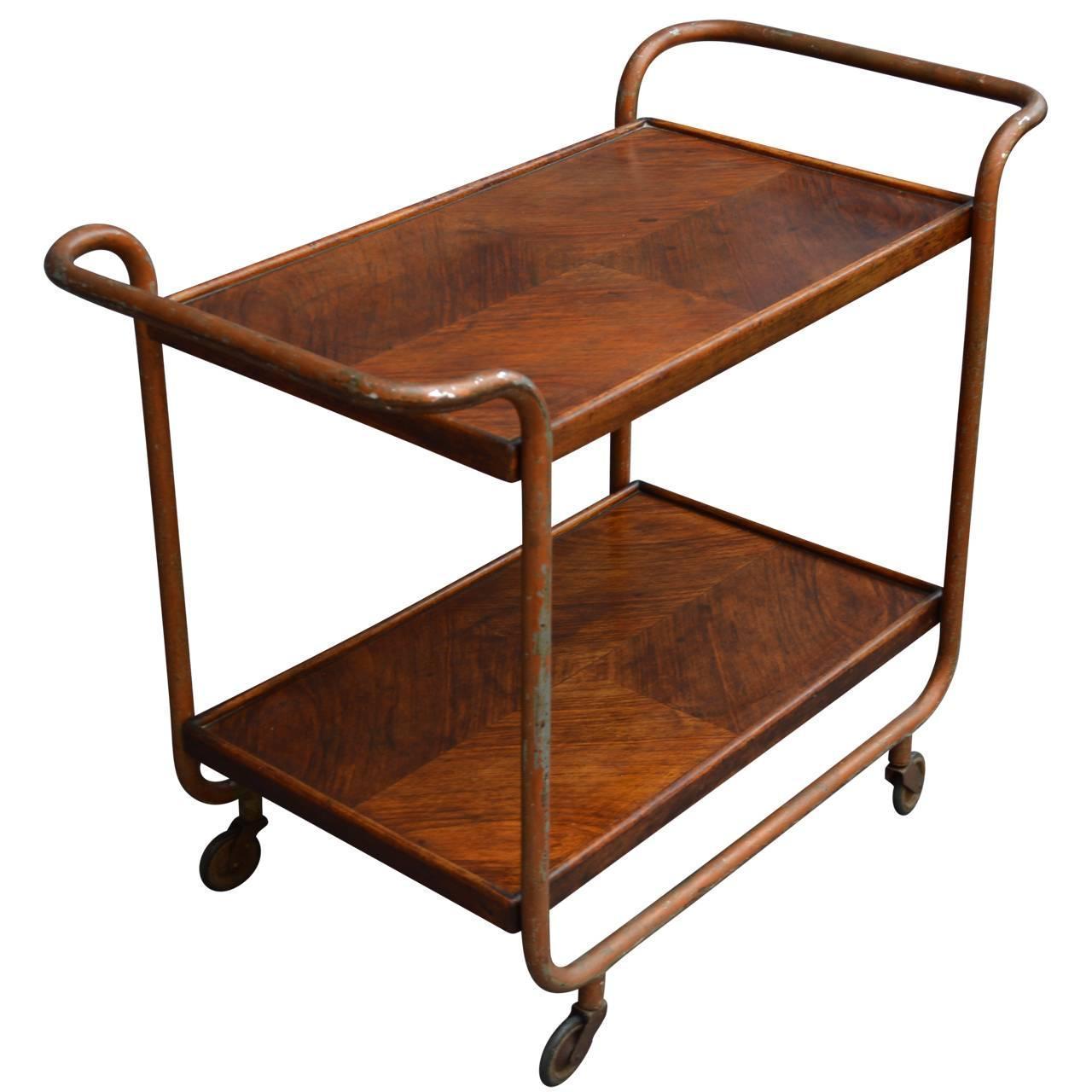 vintage italian mid century bar cart at 1stdibs. Black Bedroom Furniture Sets. Home Design Ideas