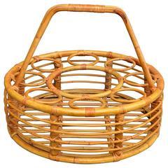 Rattan Picnic Wine Basket