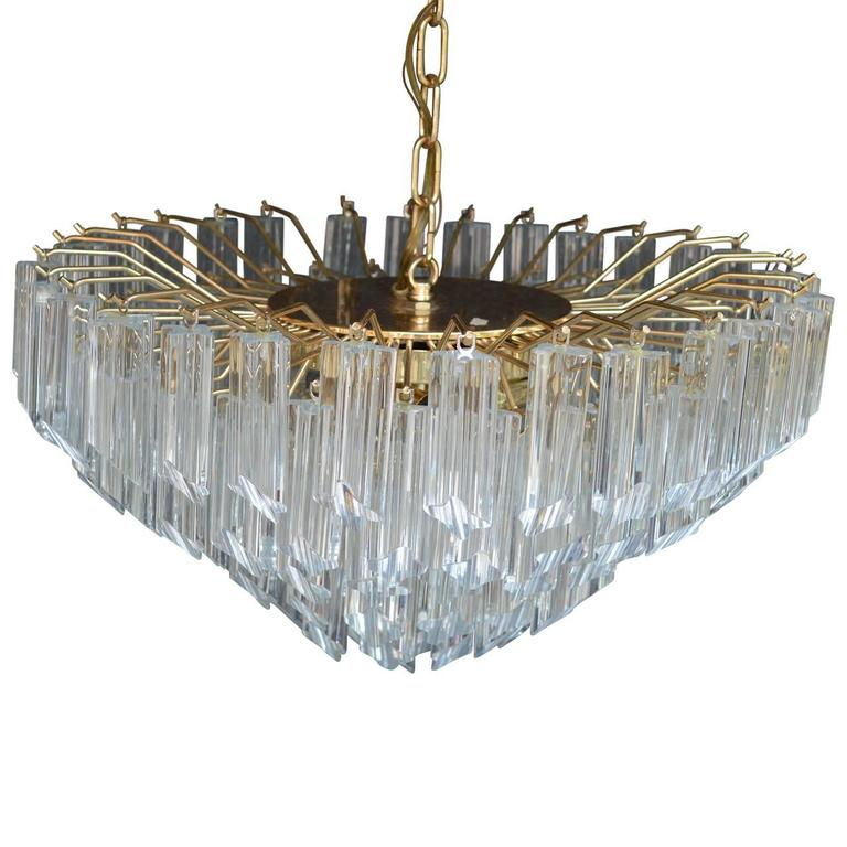 Hand-Crafted Venini Italian Crystal Chandelier