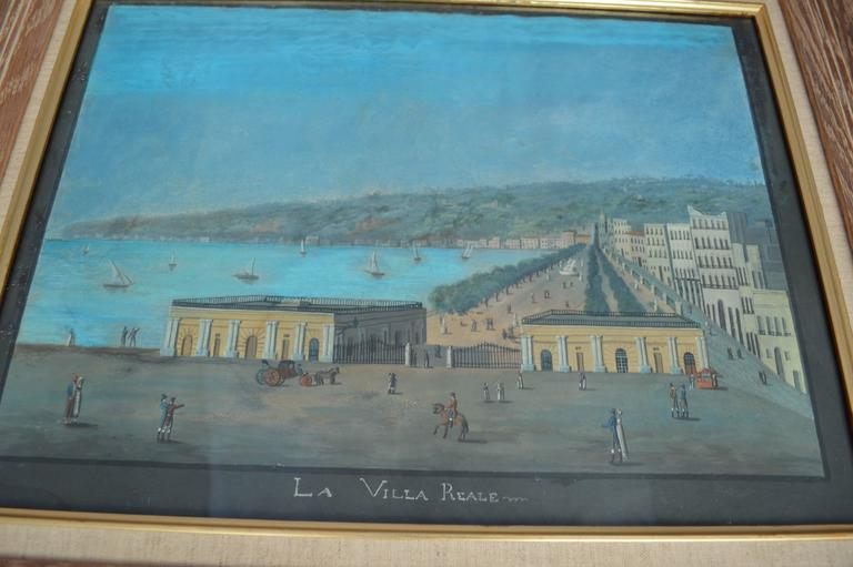 19th Century Watercoloring of Naples,