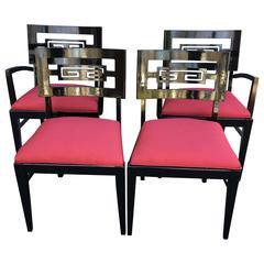 Set of 4 James Mont Dining Room Chairs
