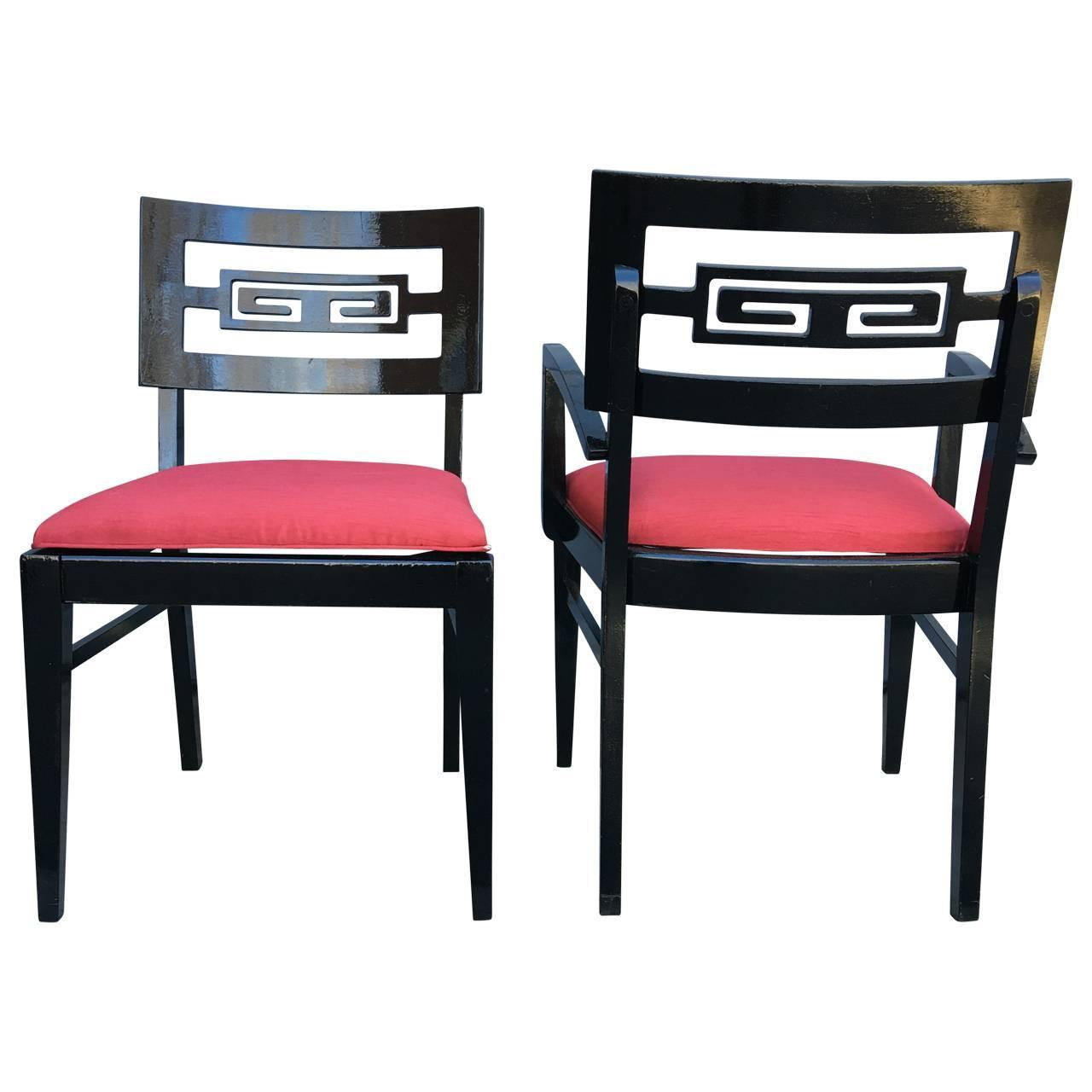 Set of 4 James Mont Dining Room Chairs For Sale at 1stdibs