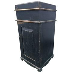 Early 19th Century Black Painted Side Table or Nightstand