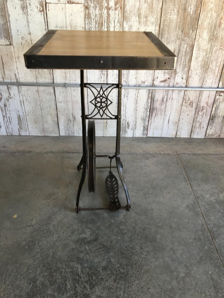 Hightop Table on Industrial Base For Sale 1