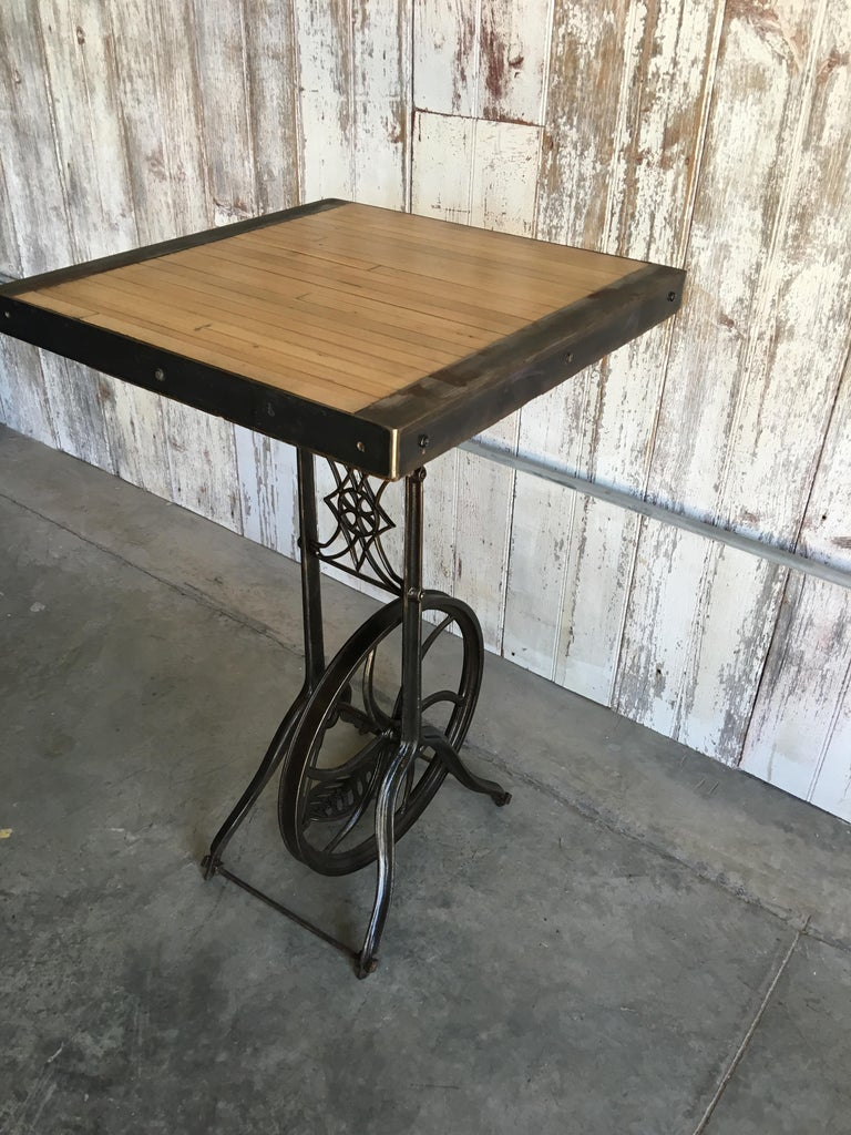 Hightop Table on Industrial Base For Sale 3