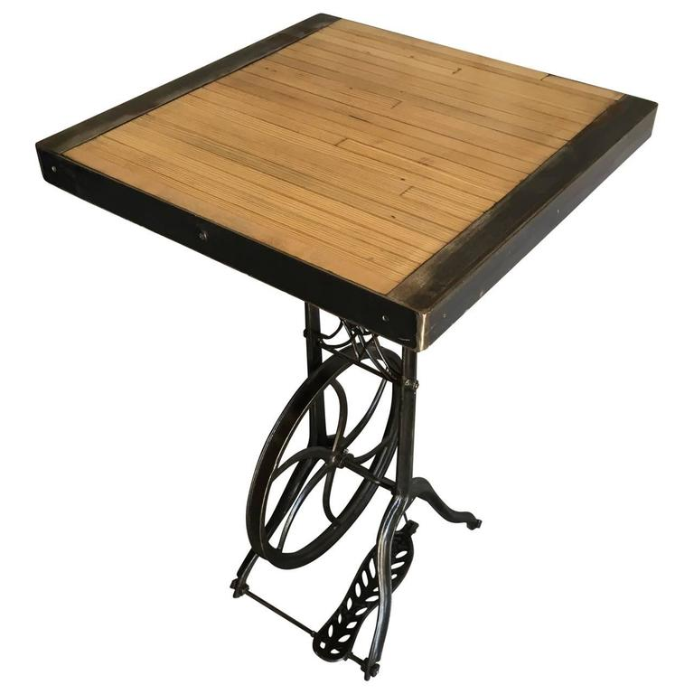 American Hightop Table on Industrial Base For Sale