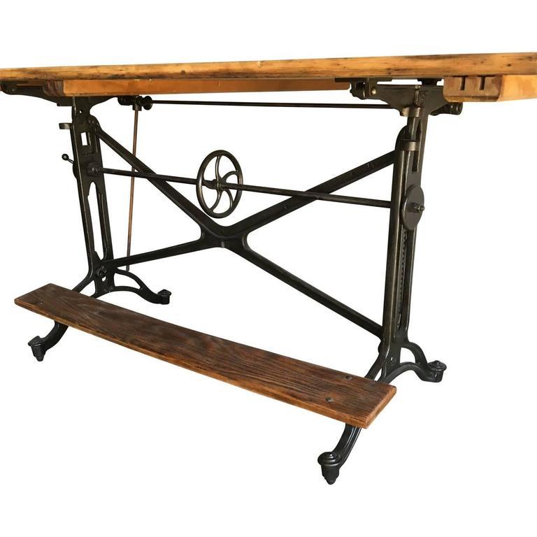 19th Century Vintage Drafting Table At 1stdibs