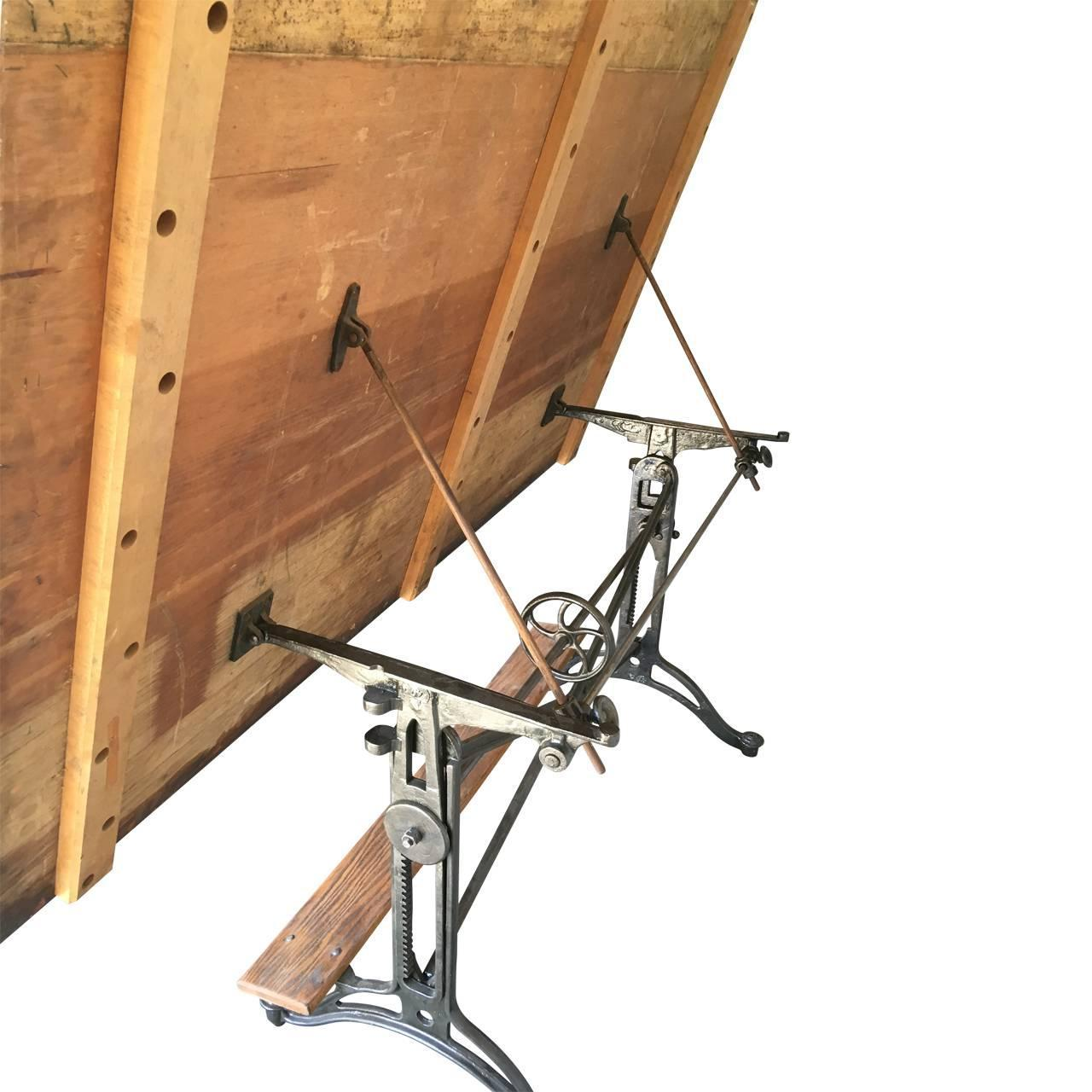 19th century vintage drafting table for sale at 1stdibs