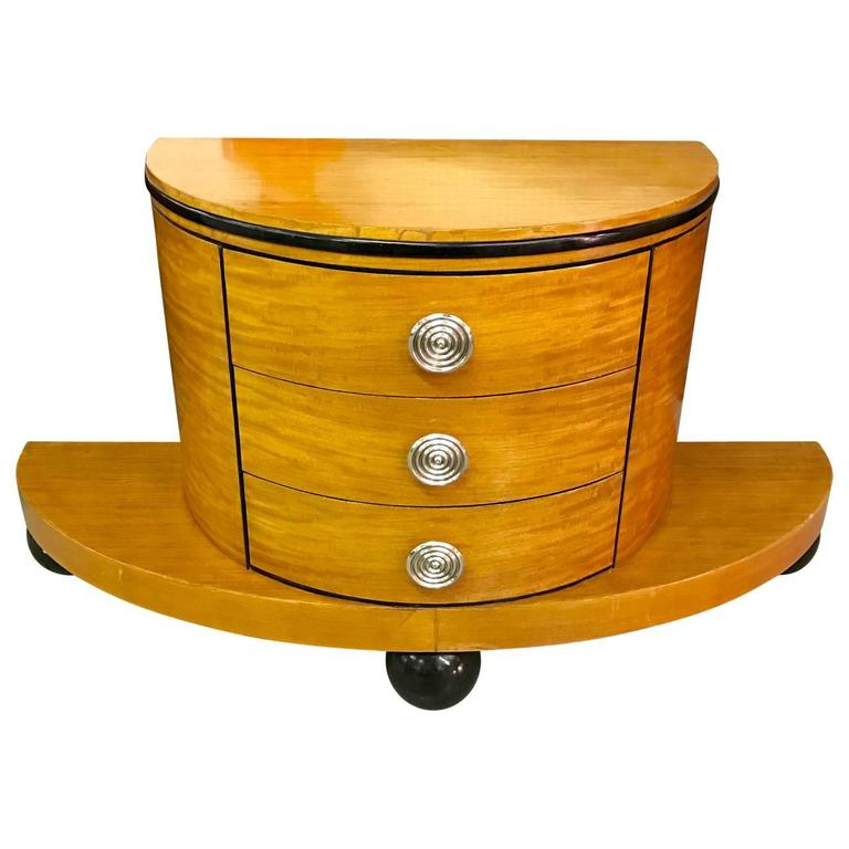 Chrome Italian Art Deco Chest Of Drawers For Sale
