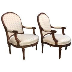 Pair of Large 19th Century Louis Philippe Armchairs