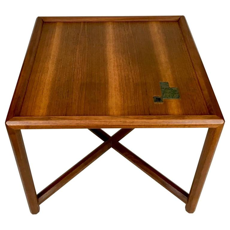 2fa262bde4d3 Mid-Century Modern Edward Wormley for Dunbar Occasional Table with Tiffany  Tiles For Sale