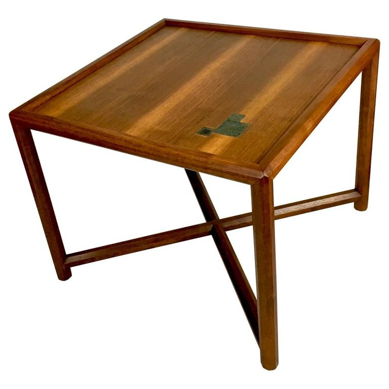 229a535c8318 American Edward Wormley for Dunbar Occasional Table with Tiffany Tiles For  Sale