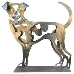 Happy Dog Sculpture by Babette Bloch