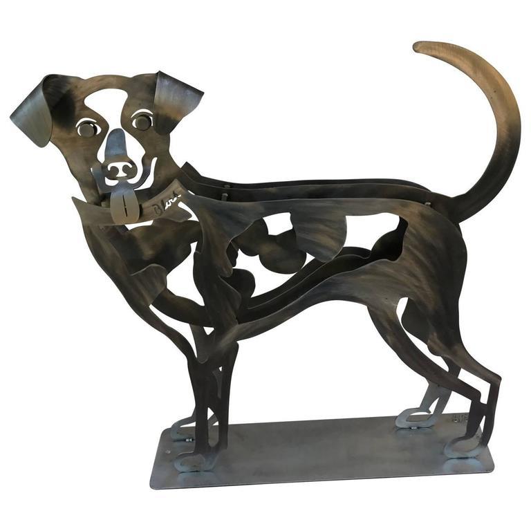 Happy Dog Sculpture by Babette Bloch For Sale 2