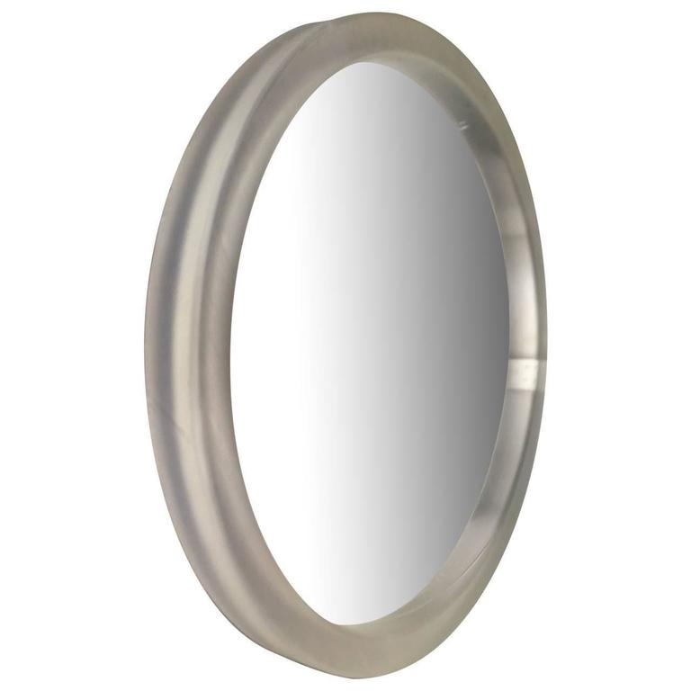 Large round lucite mirror for sale at 1stdibs for Big mirrors for sale