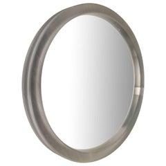 Large Round Lucite Mirror