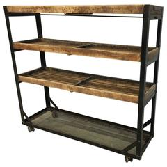 Industrial Kitchen Cart, American Modern