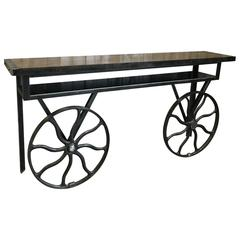 Industrial Flywheel Console Cart