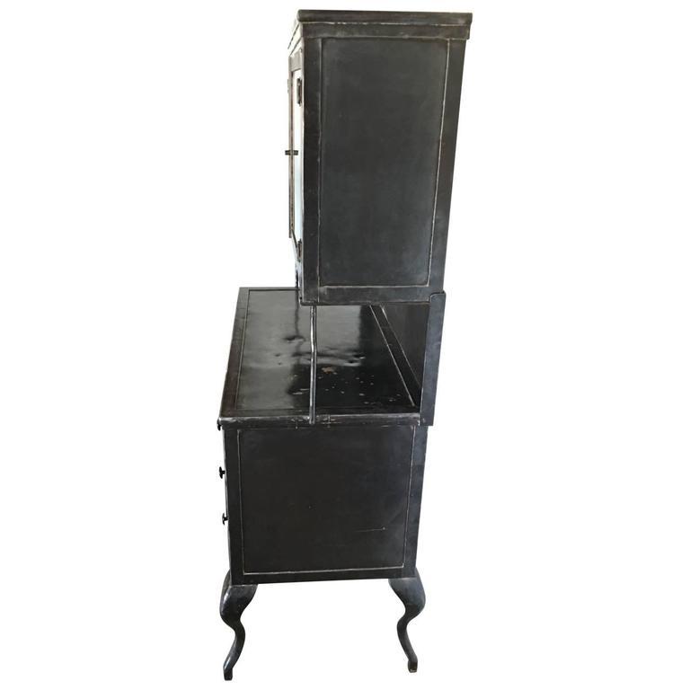 19th Century Vintage Medical Metal Cabinet For Sale