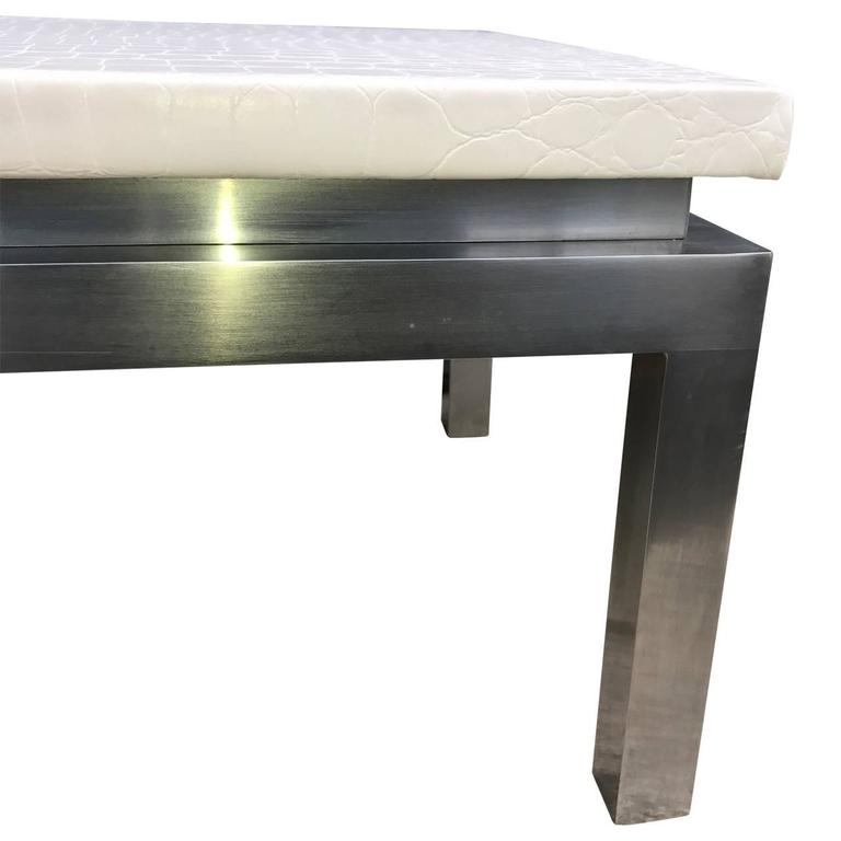 Charles Modern 47 Square Glass Top Coffee Table W: Mid-Century Modern Knoll Cocktail Table, 1960s For Sale At