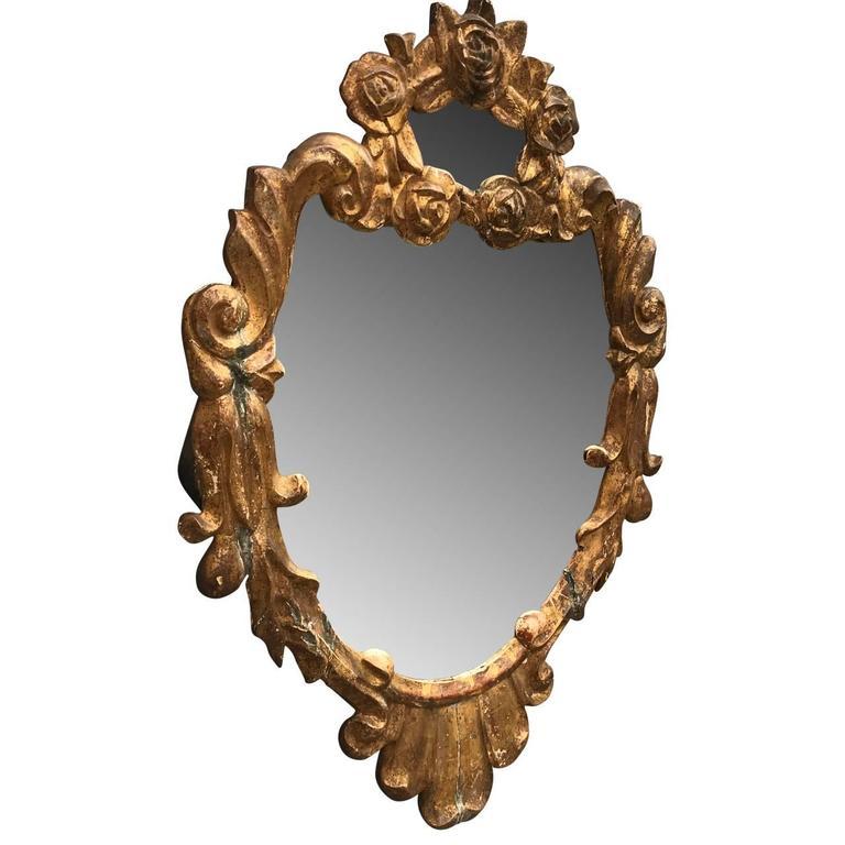 Small 19th century italian gilded wall mirror for sale at for Small wall mirrors for sale