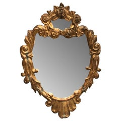 Small 19th Century Italian Gilded Wall Mirror