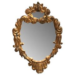 Small 19th Century Italian Gilded Wall Mirror