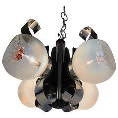 Italian Mid-Century Four-Light Chandelier