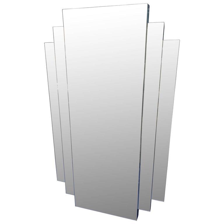Modern Pyramid-Style Wall Mirror