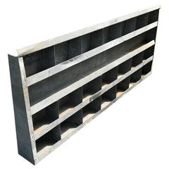 Large Vintage Galvanized Wall Shelf