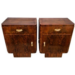 Pair of Italian Art Deco Night Stand Tables