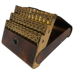 Vintage French Brass Art Deco Cigarette Holder Case
