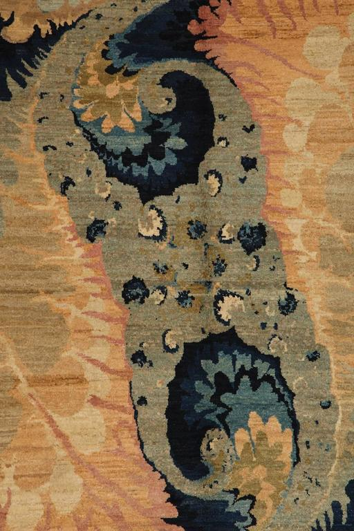 Persian Orley Shabahang Signature Carpet in Handspun Wool and Organic Vegetable Dyes