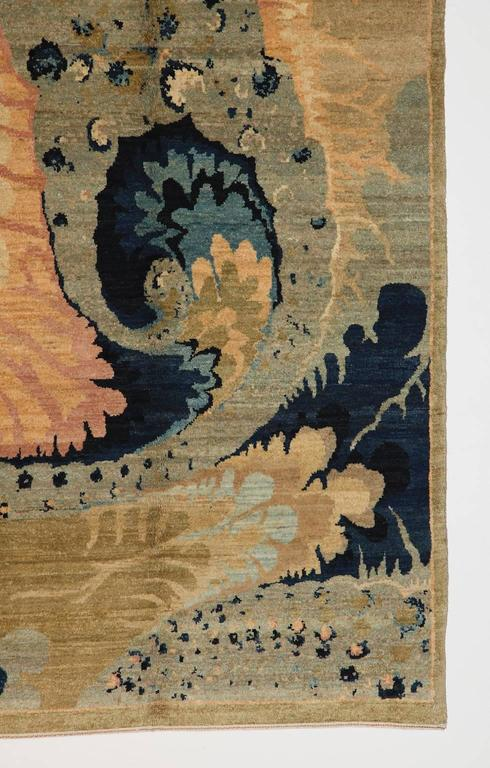 Hand-Knotted Orley Shabahang Signature Carpet in Handspun Wool and Organic Vegetable Dyes