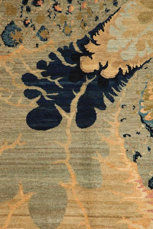 Orley Shabahang Signature Carpet in Handspun Wool and Organic Vegetable Dyes In Excellent Condition In New York, NY